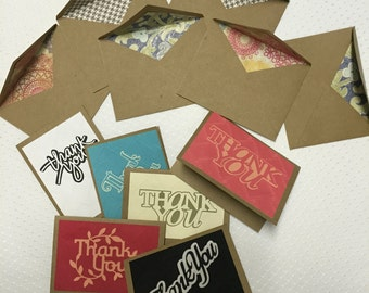 Embossed Thank You Cards (Set of 6)