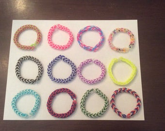 Rainbow loom bracelet fishtail choose one pattern