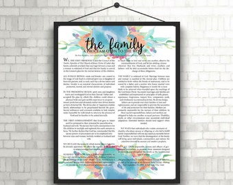 The Family Proclamation; Bouquet