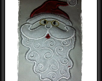 Santa Applique Design for Machine Embroidery 4 x 4inch/100x100mm Hoop