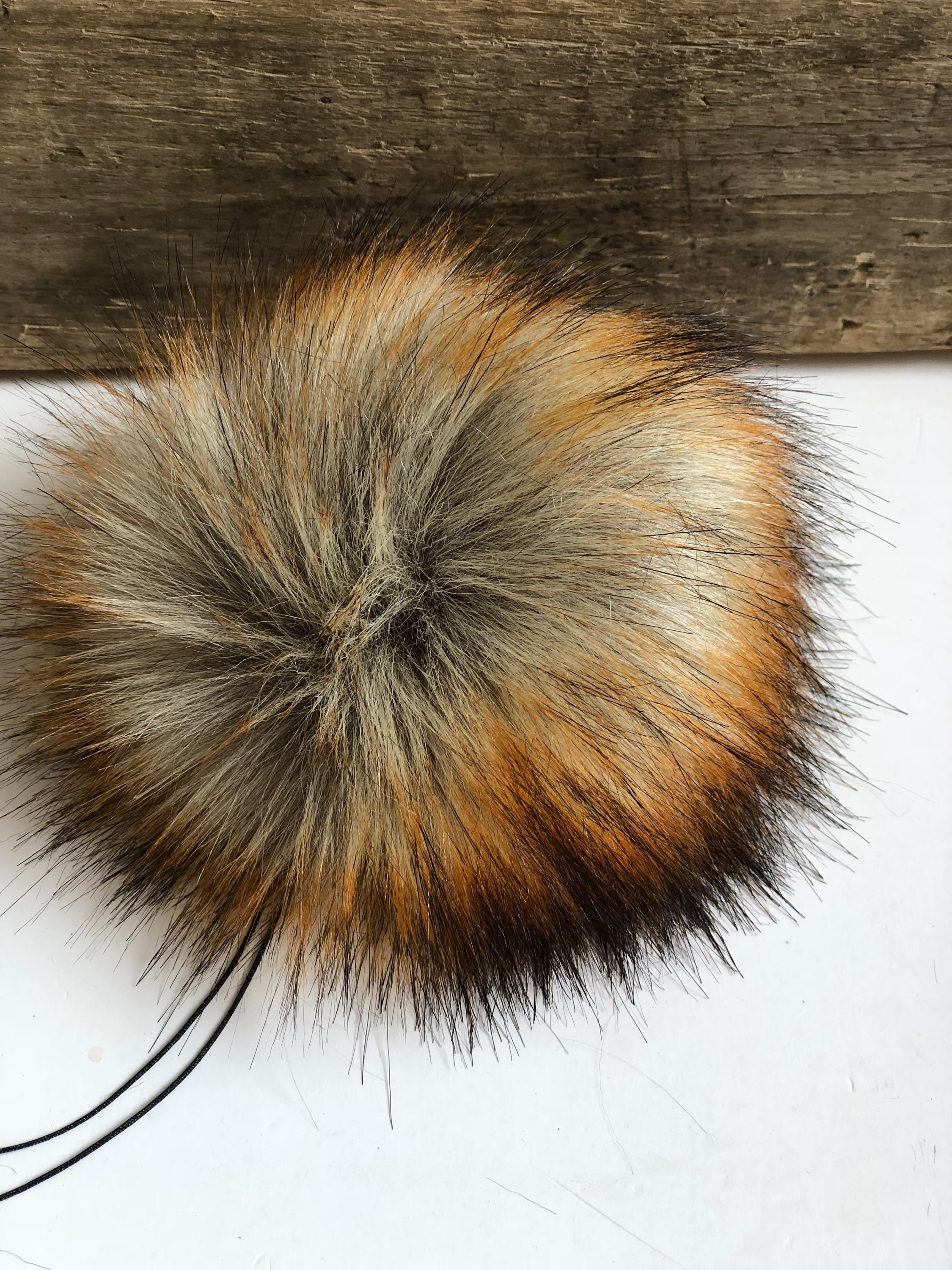 8d06a41a0aa Reynard Faux Fur Plush Large Black Pom Pom Handmade Fake Vegan for Toques  Beanies Hats Keychains Purse Zipper Fob from KitchenKlutter on Etsy Studio