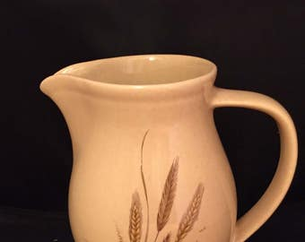 """Vintage Hyalyn Pottery USA Small Painted Pitcher #905 - 6.5"""" Tall"""
