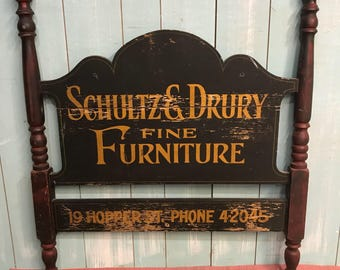 Antique shop sign furniture maker original