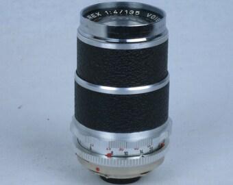 Voigtlander Bessamatic SUPER DYNAREX 135mm f/4 lens. EXC++. With rear cap.