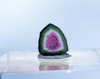 5.25 ct watermelon tourmaline slice from Kunar,Afghanistan A45