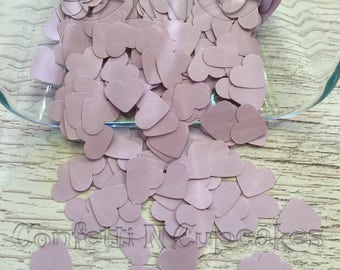 Heart Confetti, Lavender Hearts, Table Decorations, Baby Shower Decor, Paper Confetti Hearts, Wedding Shower, Heart Die Cuts,