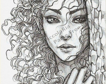 The Wild Elf - emailed PDF chart / pattern, original art by PiccolaRia