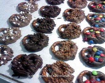 Chocolate Pretzel Knots