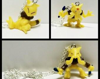 Pokemon Necklace, Abra Necklace, Kadabra Necklace, Alakazam Necklace, Psychic Type Pokemon Necklace, Generation I, Free Shipping