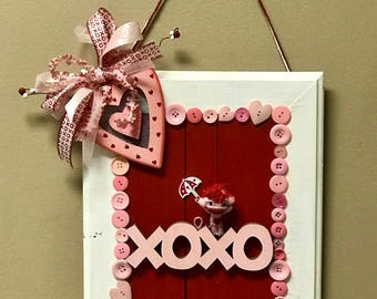 Clearance!!!!! Valentine's Day Door Hanger. One of a kind. Sale!!! Ready to ship!