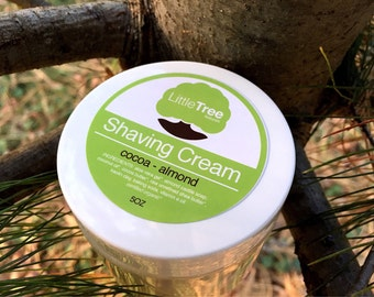 Cocoa Almond Shaving Cream. Vegan shaving cream. Natural shaving cream. Homemade shaving cream. Organic shaving cream.
