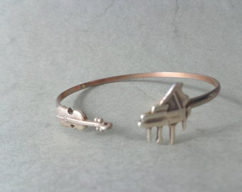piano violin music bracelet