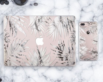 Tropical Marble Leaves Macbook 12 Case Macbook Pro Case Macbook Pro 13 Case Transparent Macbook Air 13 Macbook Air Clear Case S9 Case CN9166