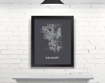 Far Sky Calgary, Alberta Roadnet Map