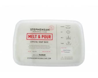 Stephensons Crystal  Melt and Pour Soap Base SELECT TYPE
