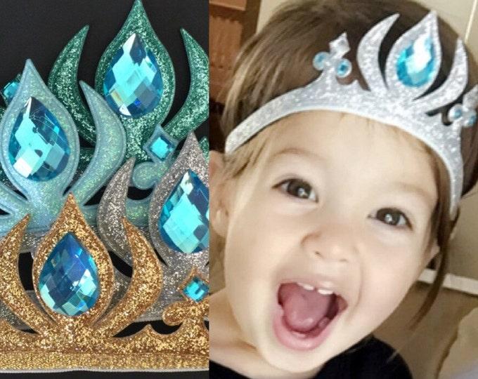Elsa crown,Elsa Elastic headband,Elsa Crown Headband,Frozen Elsa crown,disney princess crown,Princess Crown,disney crown,baby elsa crown
