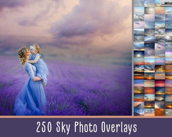 Sky Photo Overlays, clouds, photoshop, sunset, texture, dramatic,overlay, clouds effect, realistic, sky, nature sky, bundle, sky overlays