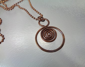 Copper Swirl Necklace