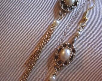 Wedding Glass Pearl Earrings