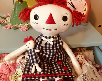Polly Ann - Rag Doll - Raggedy Ann - Cloth Doll