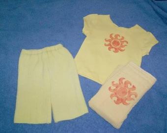 Sunshine Wool Shorties Set w/ Prefold Diaper