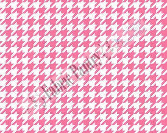 Riley Blake - Medium Houndstooth Quilt Fabric - Hot Pink C970-70  - Sold by the 1/2 Yard