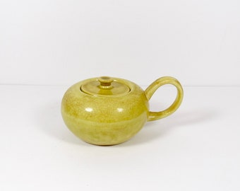 Russel Wright American Modern Sugar Bowl with Lid Chartreuse
