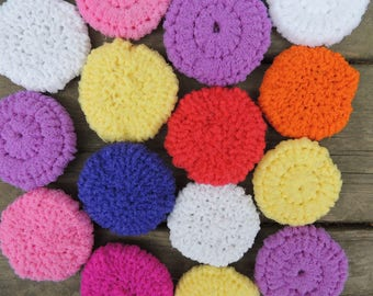 Crocheted Scrubbies - Set of 3
