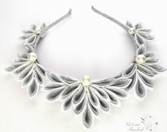Christmas Headband Silver Frozen Crowns Holiday Headband Women Headband Princess Tiara White Snowflake Hair Elsa Crown Birthday Tiara