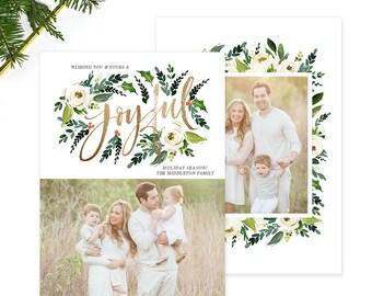 Christmas Photo Card, Christmas Card Template, Christmas Photography Template, Christmas Card Printable, Holiday Photo Cards HC314