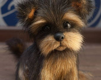 Puppy RICKY Yorkies! Yorkshire Terrier, York toy, Toy, little York, Terrier , dog, plush dog, plush toy, teddy york (made to order)