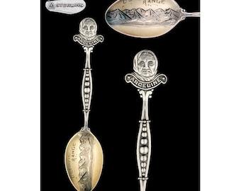 Vintage Sterling Silver Olympic Range - Angeline Souvenir Demitasse Spoon
