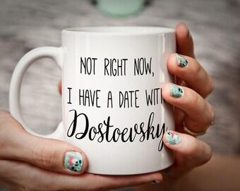 Dostoevsky mug literary mug for bookworm/book lover - Dostoevsky gift reader gift Dostoyevsky Mug Crime and Punishment Brothers Karamazov