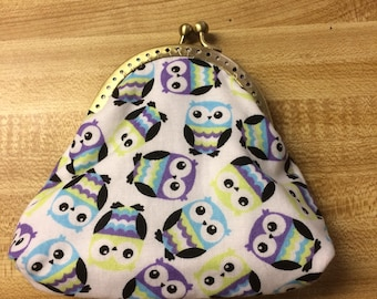 Owls Kiss Lock Coin Purse