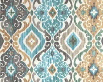 Fabric shower curtain Richloom Solarium Fresca mist