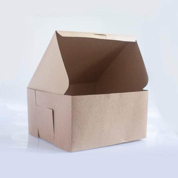 10 x 10 x 5.5 inch Kraft Brown Bakery Box - Choose your quantity | Cake Box | Bridesmaid Gift box | Brown Gift Box | Birthday Cake Box