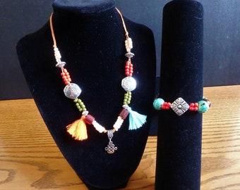 Desert Zen bracelet and necklace set