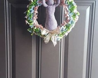 "Ostara, Easter, Eostre, 12"" Rag Wreath, Goddess, Spring, Herbal Blend, Magic, Handmade, Handcrafted, Home Decoration, Holiday, Sabbat"