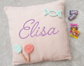 Personalized pillow name, Word, date or other as you wish!