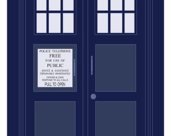 Digital Vector Illustration; Doctor Who T.A.R.D.I.S. Image