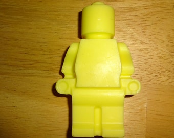 Lego Inspired Building Block Kids Large Lego Man Soap With 100% Pure Lavender Oil and Coconut Oil (choose your colors)