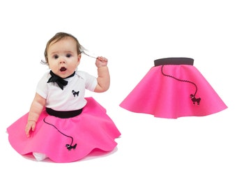 BABY/Infant (0-12 month) 50's POODLE SKIRT - Hot pink