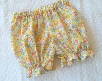Bloomer shorts for toddler girls - Liberty of London cotton lawn - 12 months to size 6