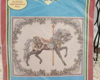 Teresa Wentzler Summer Carousel Horse Cross Stitch Kit #41001