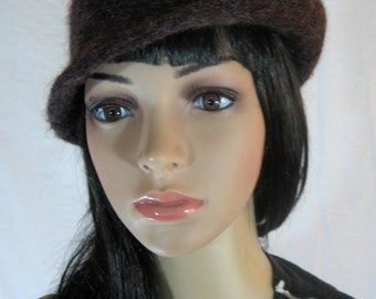 60's Brown WOOL HAT Kates Boutique Canada