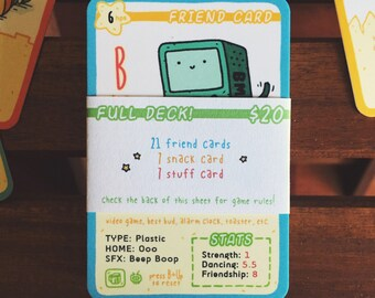 Tradey Cardy FULL DECK: 35 Mini Trading Cards
