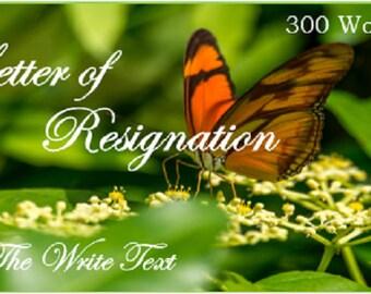 Letter of Resignation, Resignation Notice, Resignation Letter, Writing  Service, Custom Writing, Professional Writing, Writing Assistance