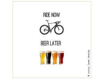 Cycling Card - Ride Now, Beer Later