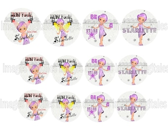 digital images 50mm and 60mm for mirrors or other print miss starlette1920