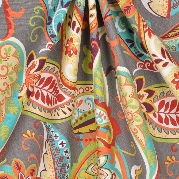 Curtain Panels Paisley Multi Color Covington Whimsy Curtain